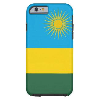 Funda Resistente iPhone 6 Bandera nacional del mundo de Rwanda