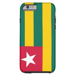 Funda Resistente iPhone 6 Bandera nacional del mundo de Togo