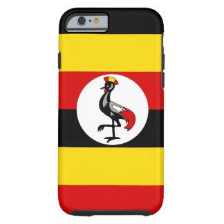 Funda Resistente iPhone 6 Bandera nacional del mundo de Uganda