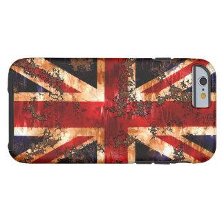 Funda Resistente iPhone 6 Bandera patriótica aherrumbrada de Reino Unido