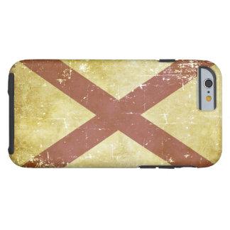 Funda Resistente iPhone 6 Bandera patriótica gastada del estado de Alabama