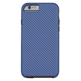 Funda Resistente iPhone 6 Base azul de la fibra de carbono