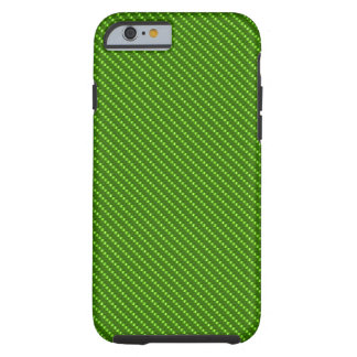 Funda Resistente iPhone 6 Base verde de la fibra de carbono
