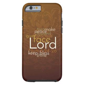 Funda Resistente iPhone 6 Bendición sacerdotal en el damasco de cobre de