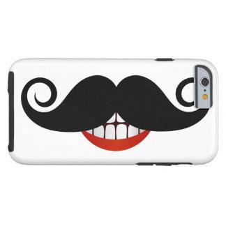 Funda Resistente iPhone 6 Bigote rizado y sonrisa de la diversión