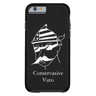 Funda Resistente iPhone 6 Blanco conservador de Vato en la caja oscura del