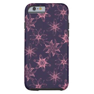 Funda Resistente iPhone 6 Caja abstracta floral rosada púrpura de medianoche