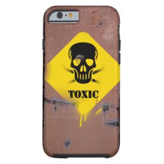 Funda Resistente iPhone 6 Caso de Smartphone con la muestra tóxica,
