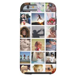 Funda Resistente iPhone 6 Caso del iPhone 6 del collage de la foto del