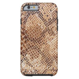 Funda Resistente iPhone 6 Caso del modelo de la piel de serpiente del pitón