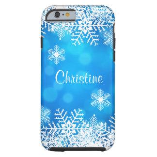 Funda Resistente iPhone 6 Caso duro del iPhone 6 de Bokeh del copo de nieve