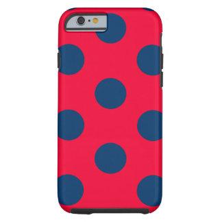 Funda Resistente iPhone 6 caso duro del iPhone 6: Lunar (rojo y azul)