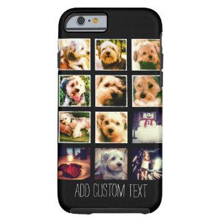 Funda Resistente iPhone 6 Collage de la foto con el fondo negro