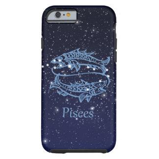 Funda Resistente iPhone 6 Constelación de Piscis y muestra del zodiaco con
