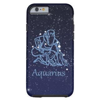 Funda Resistente iPhone 6 Constelación del acuario y muestra del zodiaco con