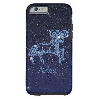 Funda Resistente iPhone 6 Constelación del aries y muestra del zodiaco con