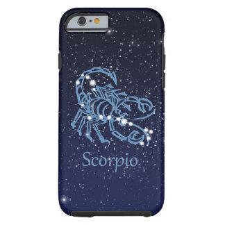 Funda Resistente iPhone 6 Constelación del escorpión y muestra del zodiaco