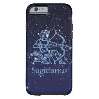 Funda Resistente iPhone 6 Constelación del sagitario y muestra del zodiaco