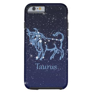 Funda Resistente iPhone 6 Constelación del tauro y muestra del zodiaco con