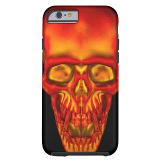 Funda Resistente iPhone 6 Cráneo anaranjado de la sol