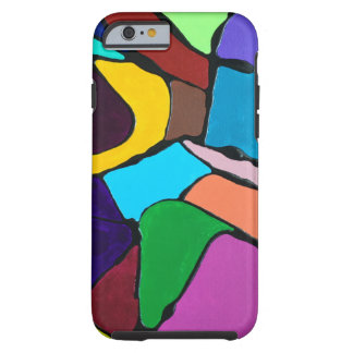 Funda Resistente iPhone 6 Diseño colorido abstracto del arte