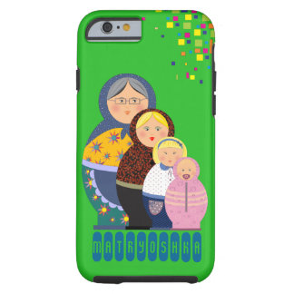 Funda Resistente iPhone 6 Ejemplo de la vida de la mujer de Matryoshka