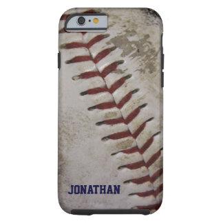 Funda Resistente iPhone 6 El béisbol sucio sucio personalizó la caja del