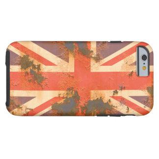 Funda Resistente iPhone 6 El vintage aherrumbró bandera de Reino Unido