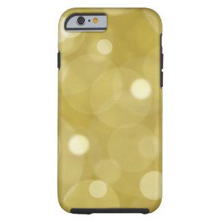 Funda Resistente iPhone 6 Electrónica patttern del bokeh del purpurina del