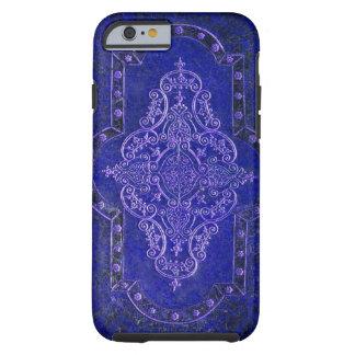 Funda Resistente iPhone 6 Falsa cubierta de libro de cuero azul antigua