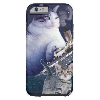 Funda Resistente iPhone 6 - Gato gordo - gatos divertidos titánicos - gato