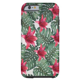 Funda Resistente iPhone 6 Hawaiian tropical adorable Hibiskus de la palma