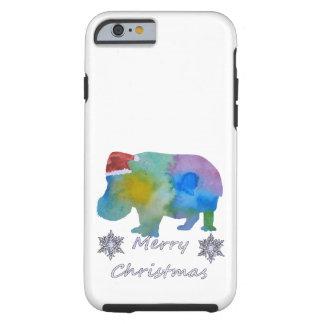 Funda Resistente iPhone 6 Hipopótamo del navidad