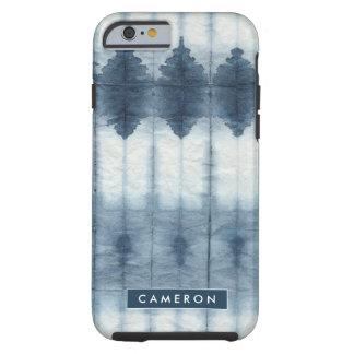 Funda Resistente iPhone 6 Impresión de Shibori Indigio