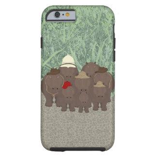 Funda Resistente iPhone 6 iPhone 6/6s, caja dura de los hipopótamos del