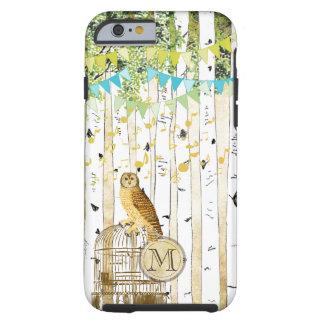 Funda Resistente iPhone 6 iPhone del árbol de abedul del búho del vintage