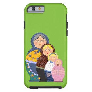 Funda Resistente iPhone 6 La vida rusa de Matryoshka de la muñeca efectúa