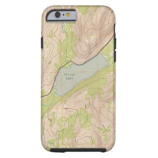Funda Resistente iPhone 6 Lago Tenaya, mapa topográfico de Yosemite