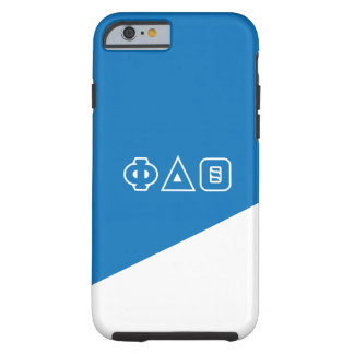 Funda Resistente iPhone 6 Letras del Griego de la theta el | del delta de la