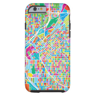 Funda Resistente iPhone 6 Mapa colorido de Denver