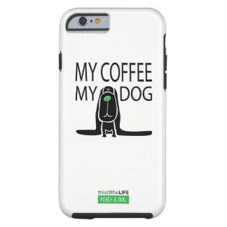 """Funda Resistente iPhone 6 """"mi café, mi perro"""" • CASO del iPhone 6/6s"""