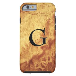 Funda Resistente iPhone 6 Modelo de la piedra de gema, ojo del tigre del oro