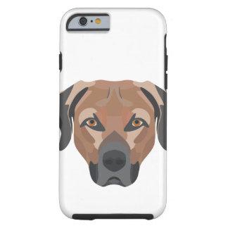 Funda Resistente iPhone 6 Perro Brown Labrador del ilustracion