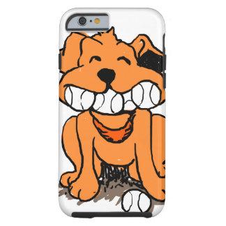 Funda Resistente iPhone 6 Perro con las bolas en la boca