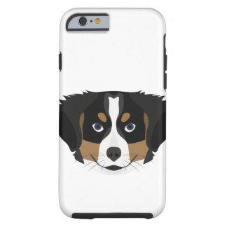 Funda Resistente iPhone 6 Perro de montaña de Bernese del ilustracion