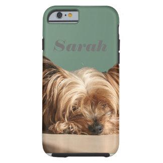 Funda Resistente iPhone 6 Perro el dormir Yorkie
