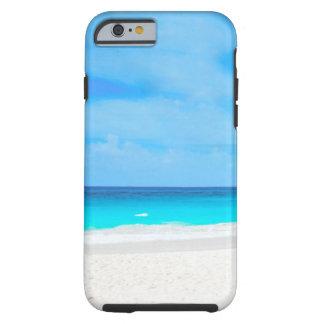 Funda Resistente iPhone 6 Playa tropical, agua de la turquesa