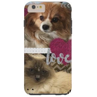 Funda Resistente iPhone 6 Plus Amor del gato y del perro