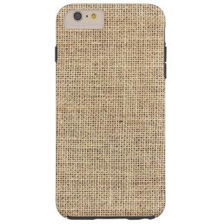 Funda Resistente iPhone 6 Plus Arpillera rústica del vintage del país