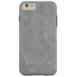Funda Resistente iPhone 6 Plus Bosquejo del mapa de New York City